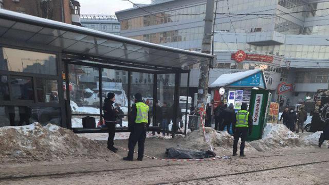 На месте работают правоохранители / фото: kyiv.media