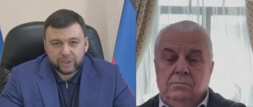 Кравчук поговорил с главарем боевиков / скриншот