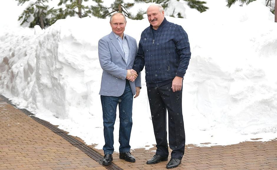 Володимир Путін та Олександр Лукашенко / фото прес-служби президента Росії
