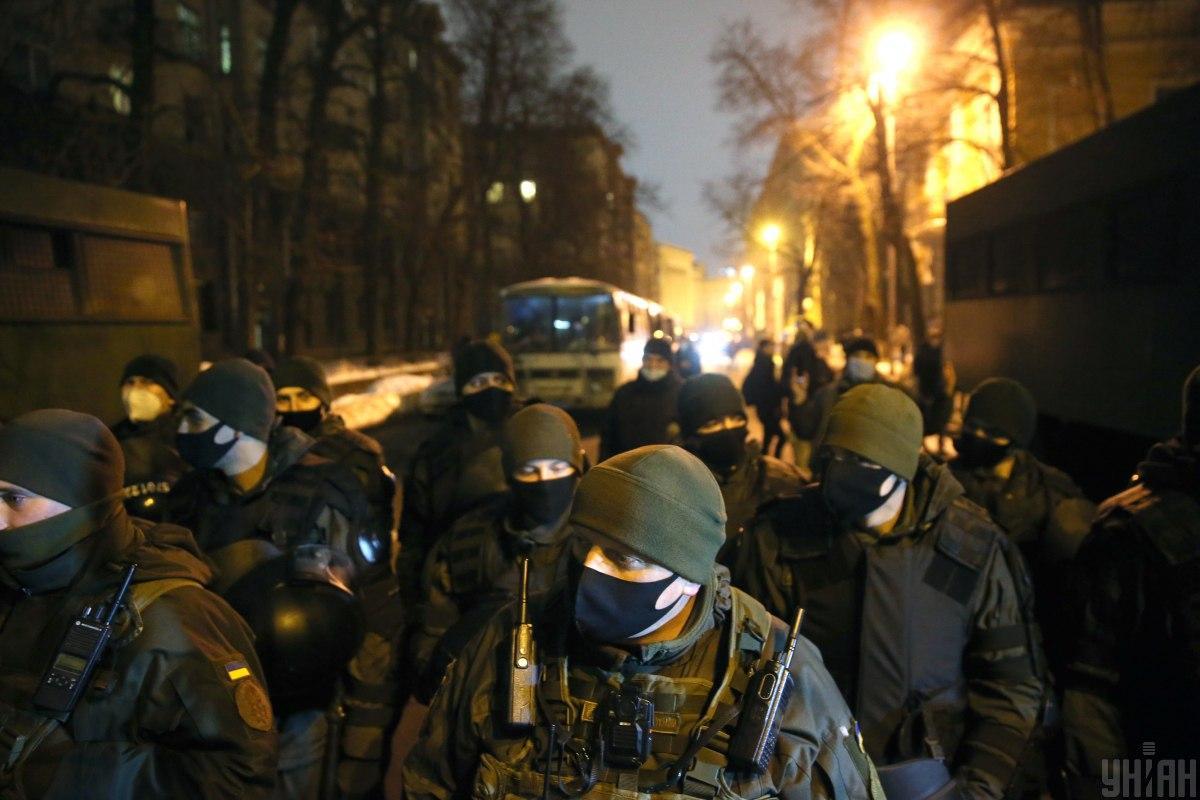 Поліція затримала 17 протестувальників під ОП/ фото УНІАН, В'ячеслав Ратинський