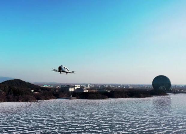EHang испытала аэротакси полетами в морозную погоду / фото EHang
