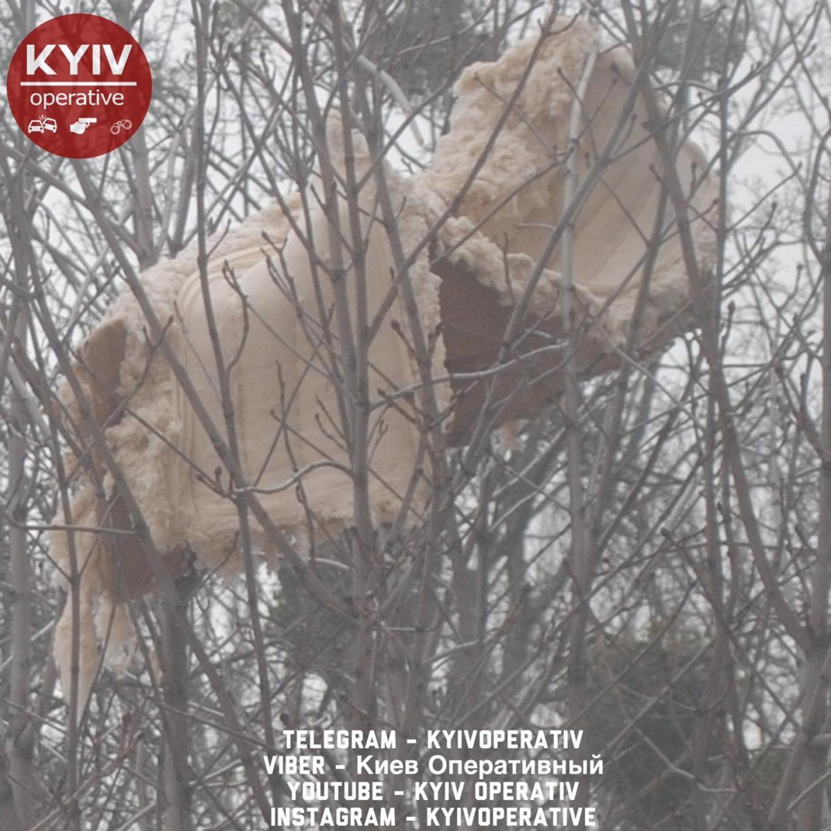 Диван застряг на дереві / Киев Оперативный Facebook