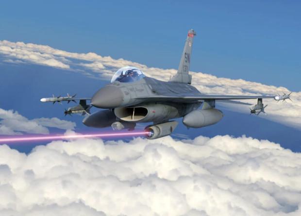 Рендер винищувача F-16 з лазерною системою самозахисту / фото Lockheed Martin