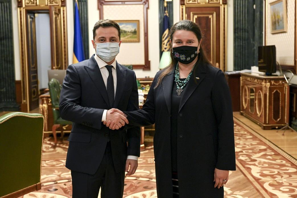 Zelensky welcomes Markarova as new ambassador to U.S. / Photo from president.gov.ua