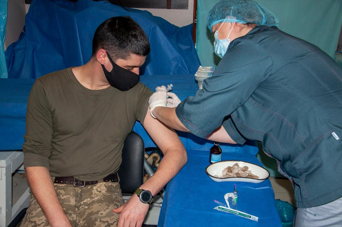 Ninety people got vaccinated on Feb 27 / Photo from the Joint Forces Operation Headquarters