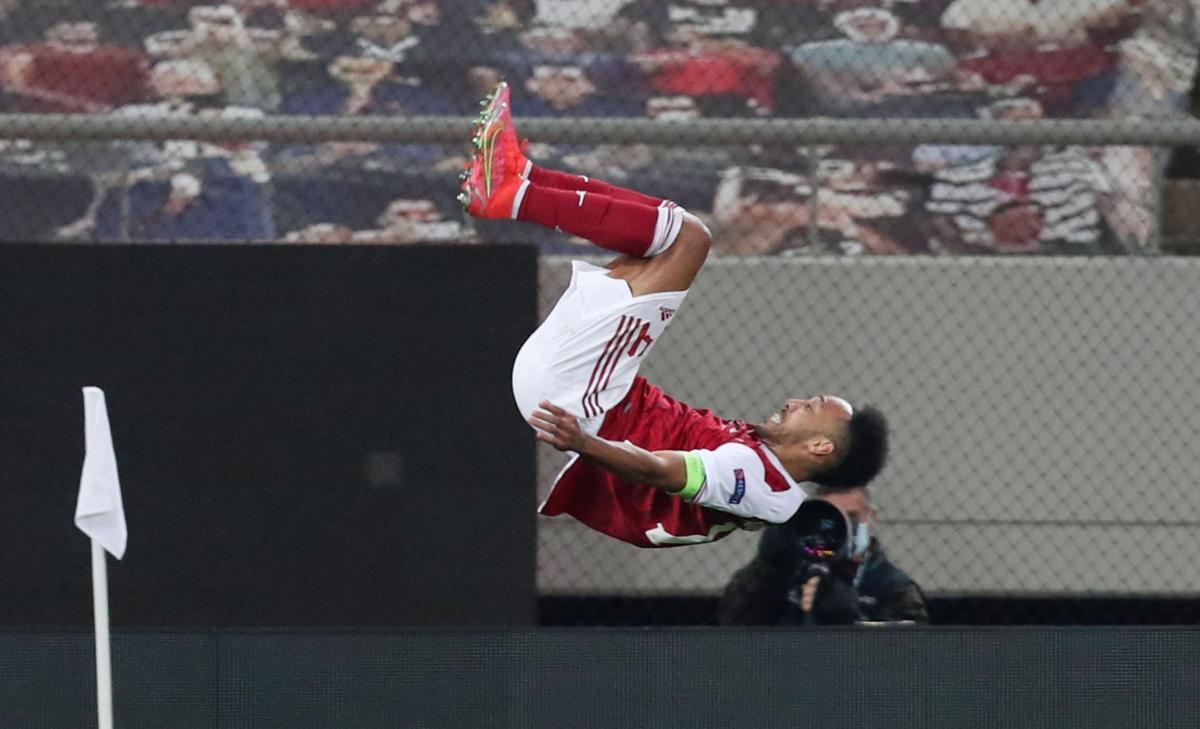 Пьер-Эмерик Обамеянг забил победный гол Арсенала / фото REUTERS