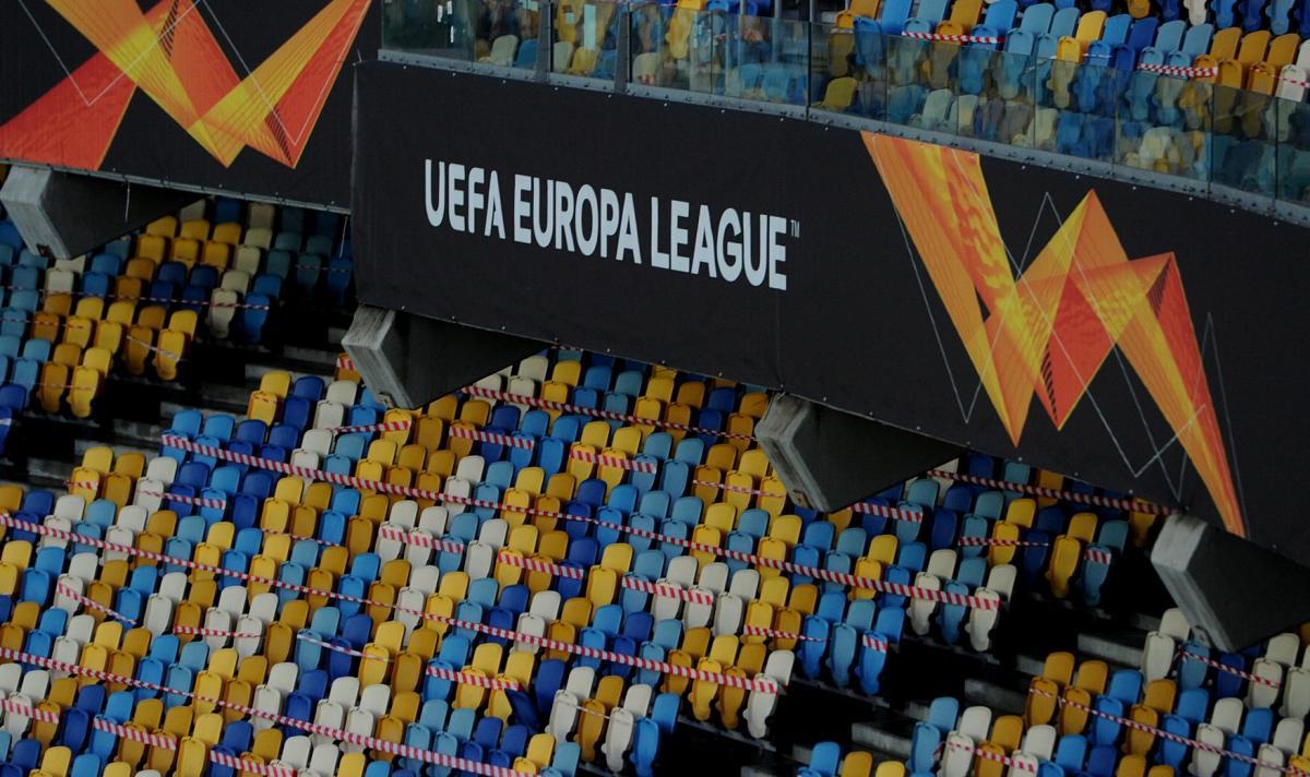 Банер Ліги Європи на Олімпійському / фото ФК Шахтар