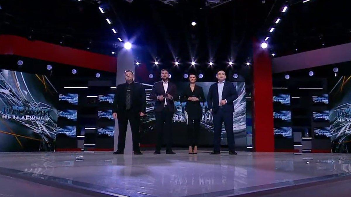 Первый независимый - новый канал Медведчука заблокировали после первого часа эфира / Скриншот