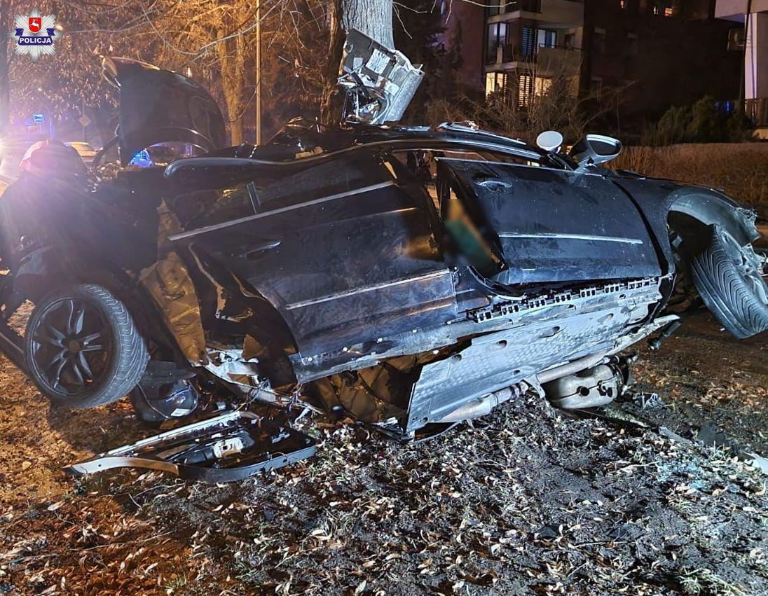 Водитель автомобиля по неизвестной причине не справился с управлением / фото lubelska.policja.gov.pl