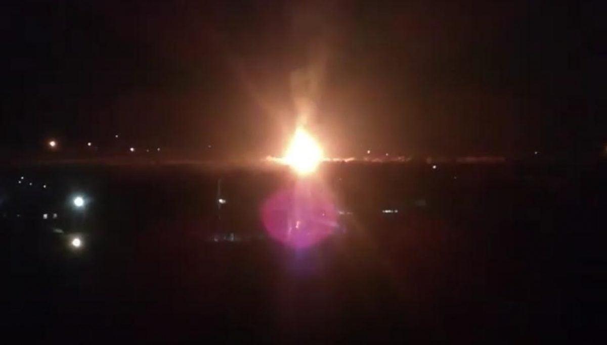 Взрыв в Луганске — горит газораспределительный узел — новости