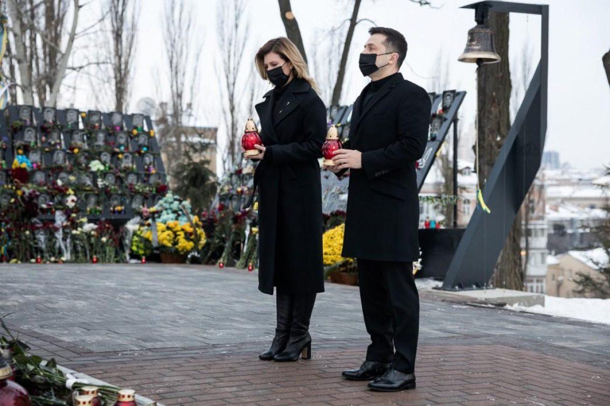 Расстрелы на Майдане — Зеленские почтили подвиг Героев Небесной