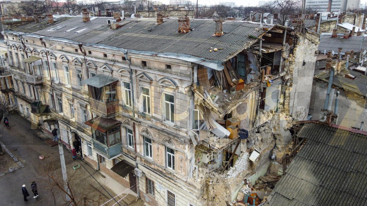 У центрі Одеси - нове обвалення / фото: Думская