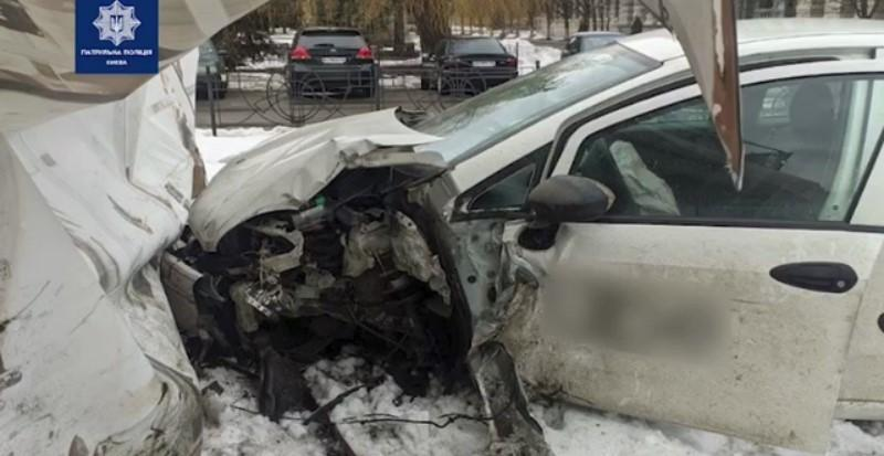 Внаслідок ДТП водій та пасажирка не постраждали/ скріншот з відео