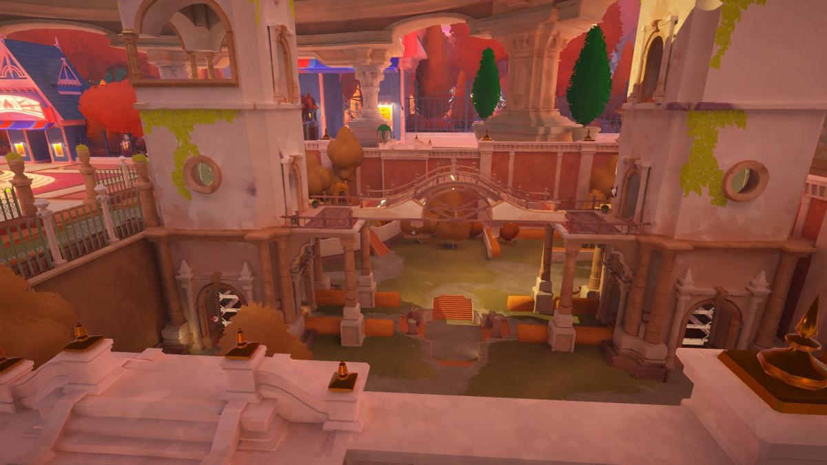 Мост, который нужно установить внутри макета, чтобы пройти по нему на базовом уровне / скриншот