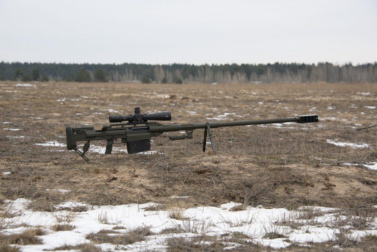 Загальнадовжина гвинтівки - 2000 мм, маса без магазину з патронами - 22,5 кг. / фото armyinform.com.ua