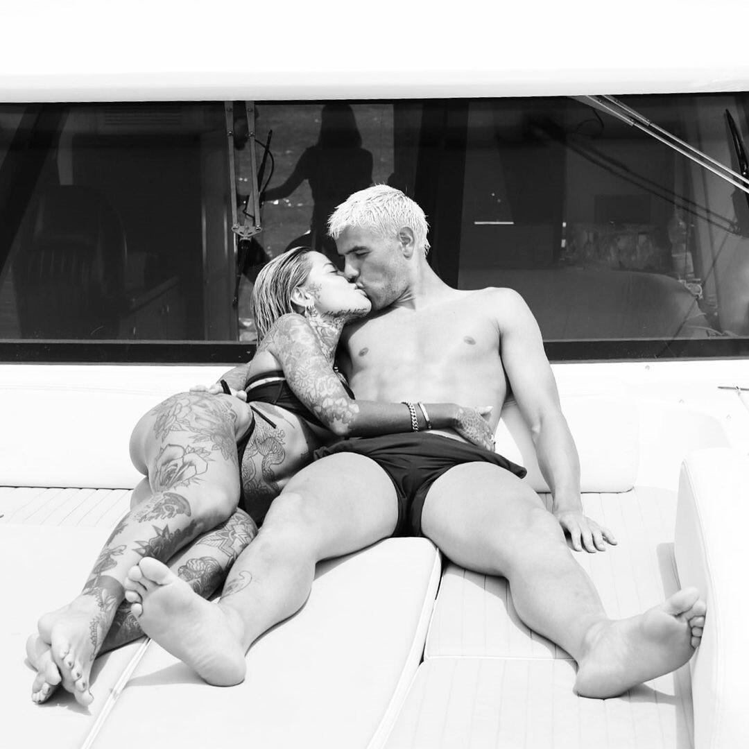 Тео Эрнандес и Зои Кристофоли / Фото instagram.zoe_cristofoli