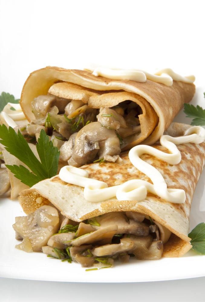 Блинчики с грибной начинкой / фото ua.depositphotos.com