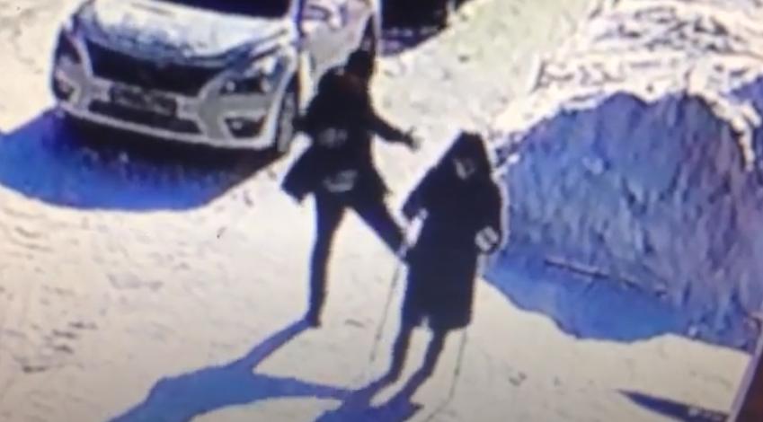 Росіянин штовхає стареньку / скріншот