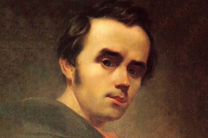 У 1847 році в Києві був заарештований поет Тарас Шевченко / автопортрет Шевченка