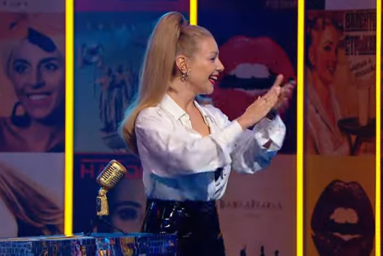 Кароль и Полякова встретились на сцене / скриншот