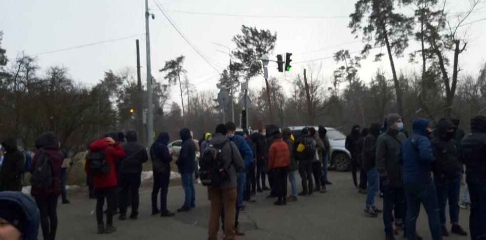 """Акція протесту в Конча-Заспі / фото: """"Сегодня"""""""