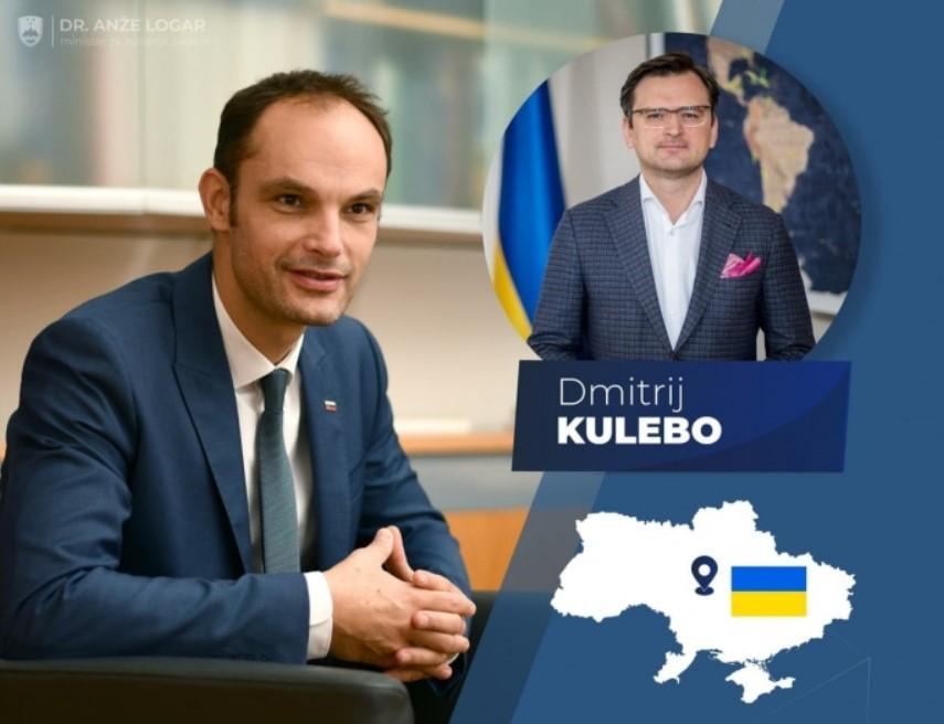Анже Логар ошибся с фамилией министра иностранных дел Украины Кулебы / Facebook