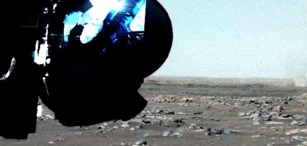 На Марсе сняли песчаный вихрь/ Скриншот с видео