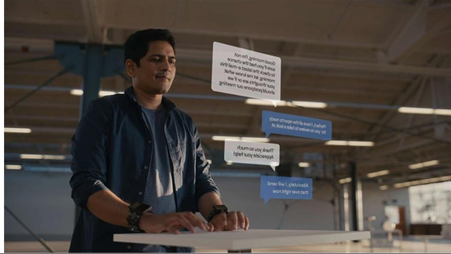Технология в браслете позволяет переводить сигналы мозга в цифровые команды и выполнять действия в дополненной реальности / фото tech.fb.com
