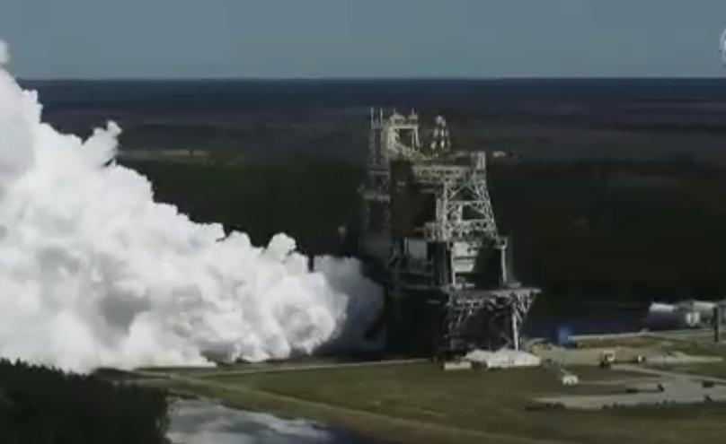 NASA випробувало двигуни на ракеті / скріншот