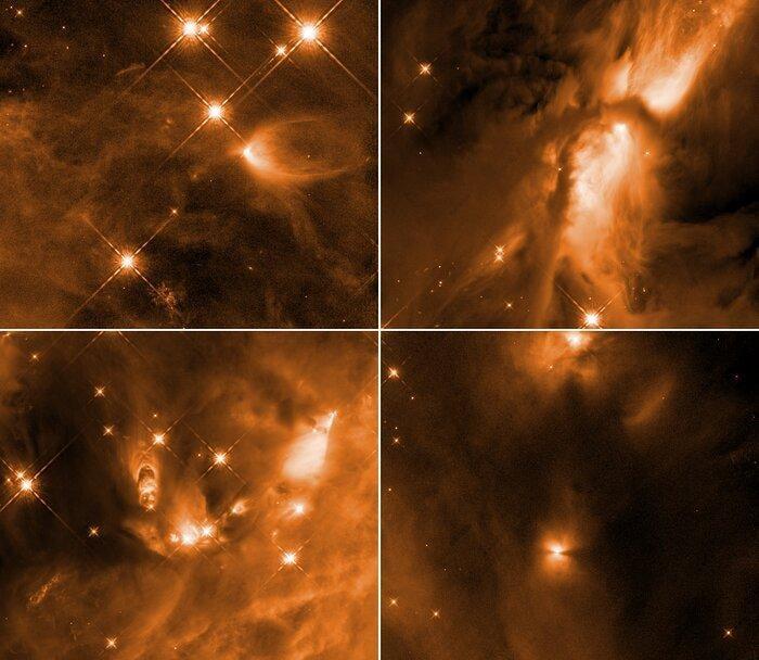 Ближайшийк Земле регион звездообразования расположен в комплексе Ориона / фото NASA, ESA, STScI, N. Habel and S. T. Megeath