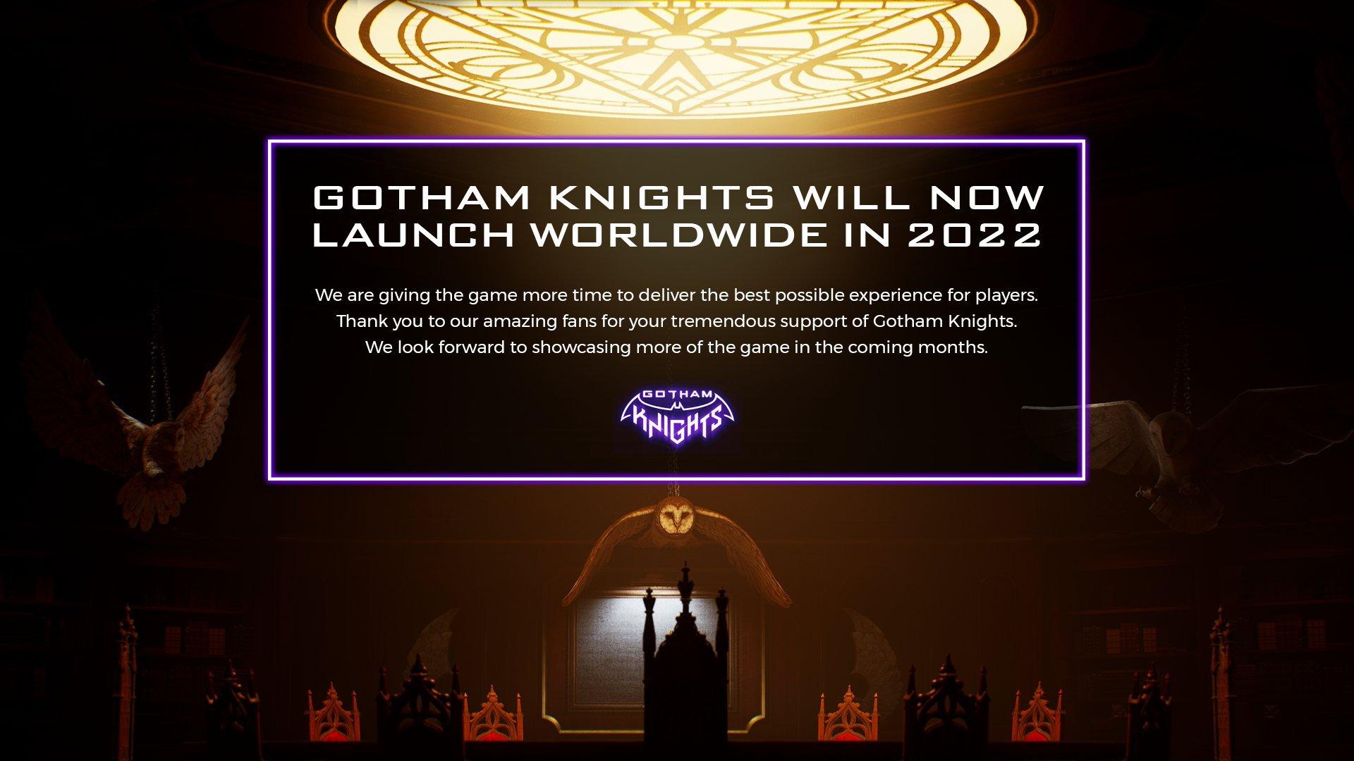 Разработчикам нужно больше времени, чтобы доделать проект /фото twitter.com/GothamKnights