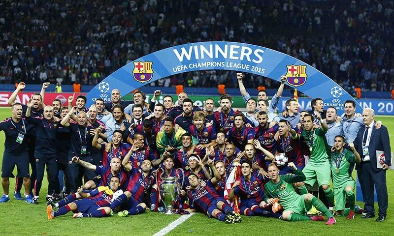 Барселона последний раз побеждала в ЛЧ в 2015 году / фото REUTERS