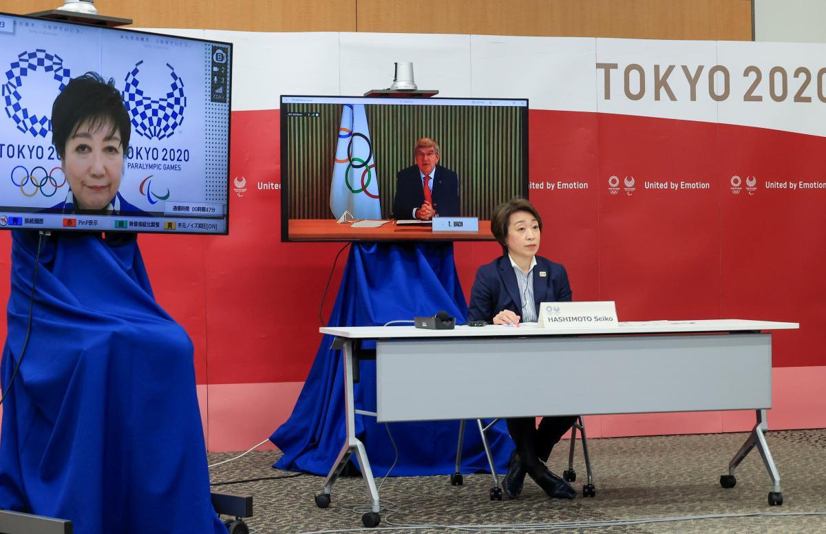Заседание организационного комитета Игр с участием президента МОК / фото REUTERS