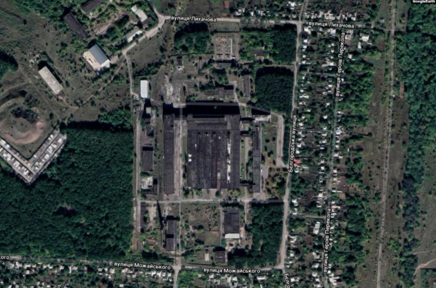 Вид завода на спутниковых снимках / radiosvoboda.org