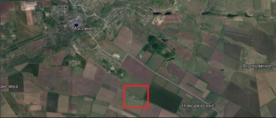 Аэродром к юго-востоку от Моспино