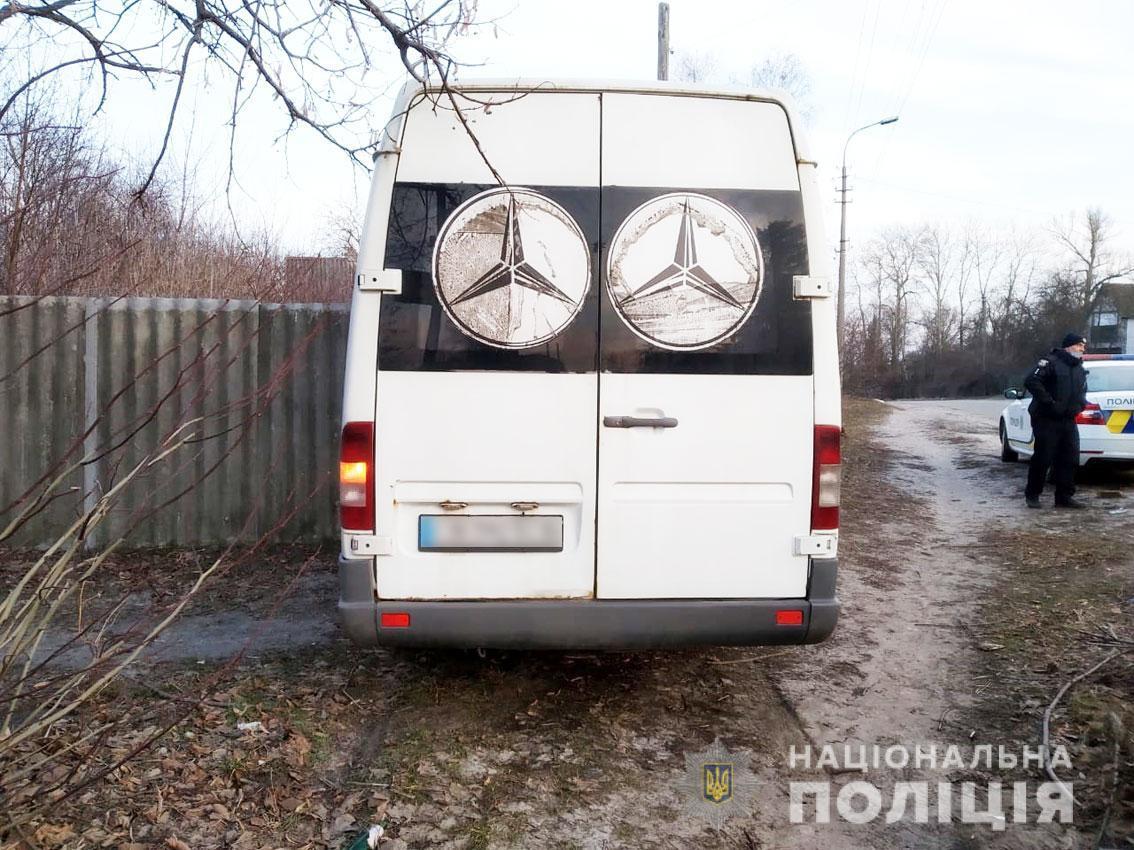 Никто из пассажиров маршрутки не пострадал / фото ГУ НП в Черниговской области