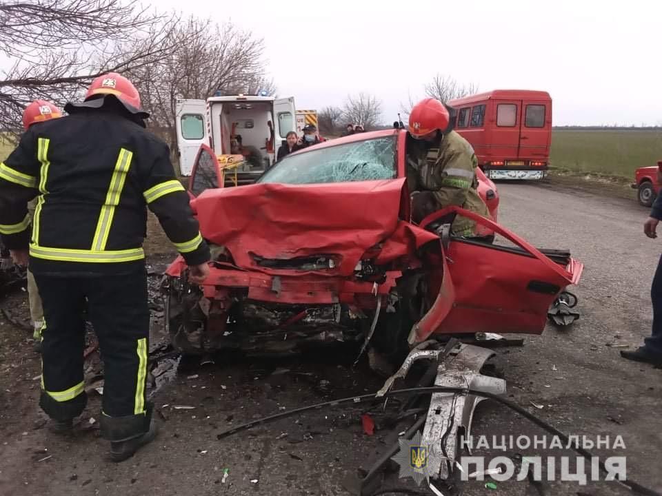 Столкновение произошло на автодороге Р-75 / фото Нацполиция