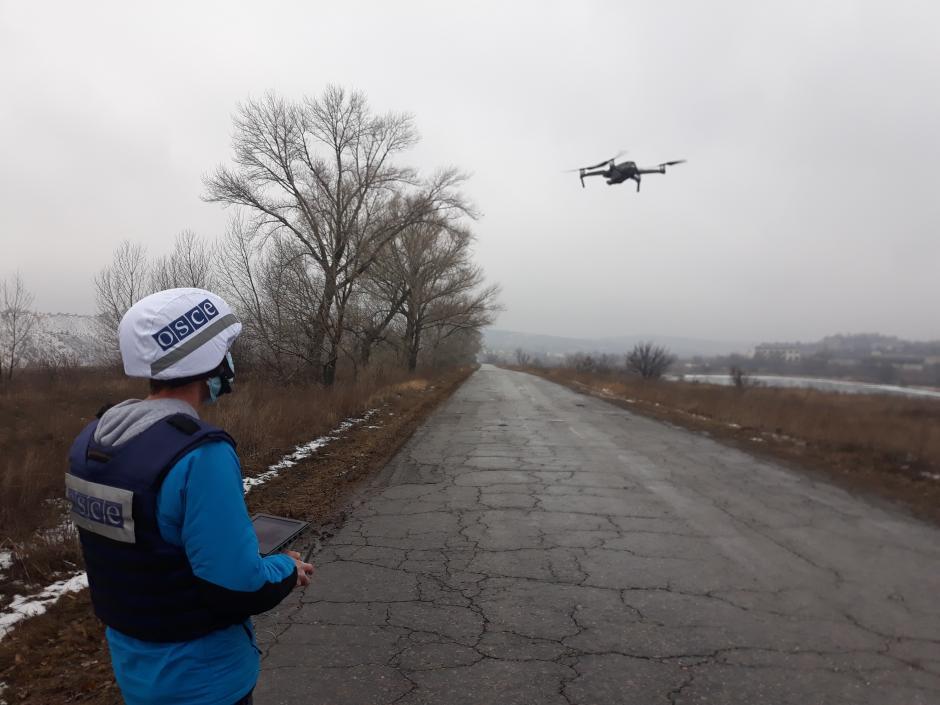 Боевики на Донбассе стреляли в сторону беспилотника СММ ОБСЕ / фото ОБСЕ