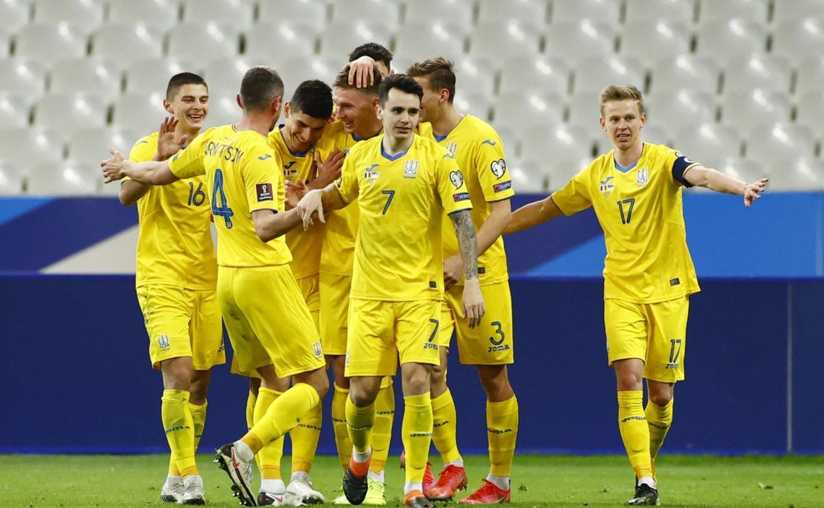 Игроки сборной Украины / фото REUTERS