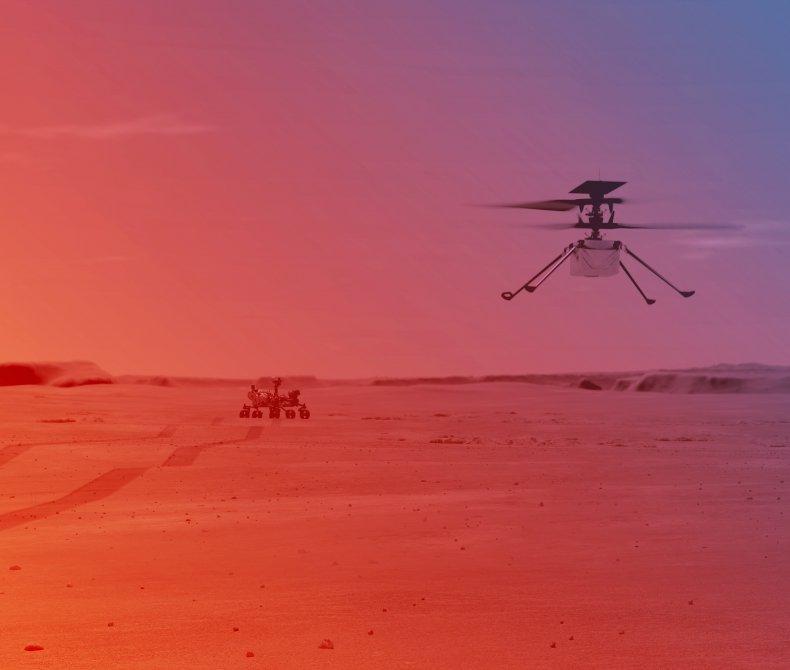 Під час першого польоту вертоліт повинен піднятися на висоту три метри \ фото NASA / JPL-CALTECH