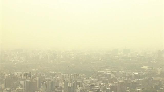 Мощная песчаная буря в Японии / Скриншот