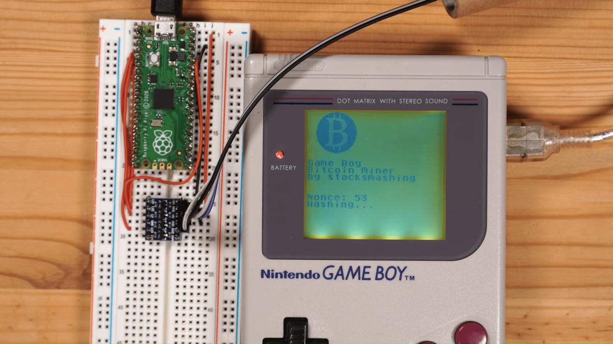 Энтузиаст смог запустить майнинг биткоинов на игровой консоли Game Boy / фото screenshot itc.ua