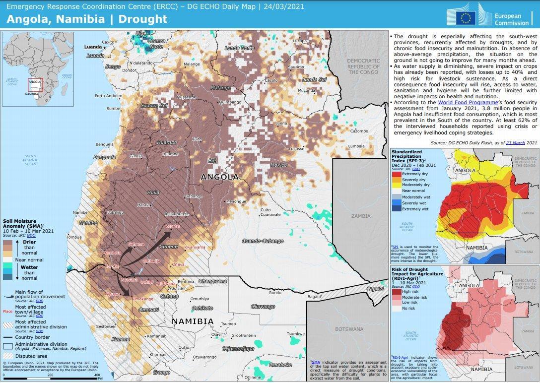 Засуха в Анголе по районам / Twitter / @AlexandraBilak