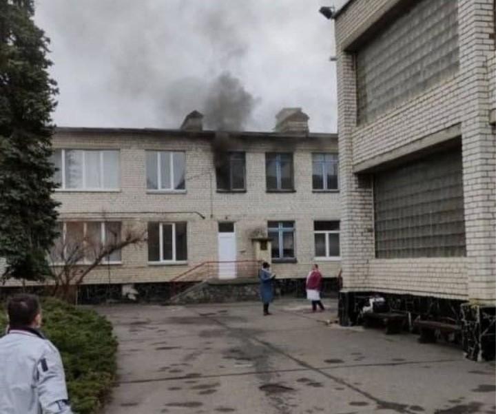 Дітей евакуювали на подвір'я / фото ТСН