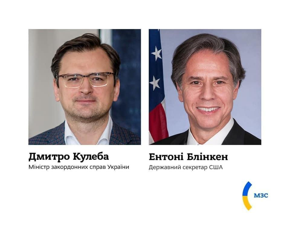 Kuleba, Blinken discuss latest escalation in Donbas / Photo from facebook.com/UkraineMFA