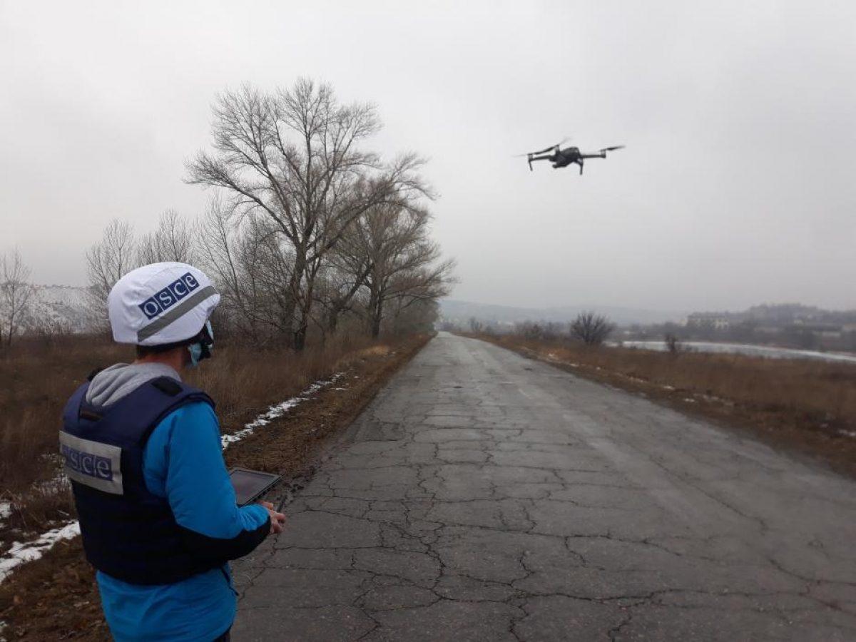 Оккупанты обстреляли беспилотник ОБСЕ на Донбассе