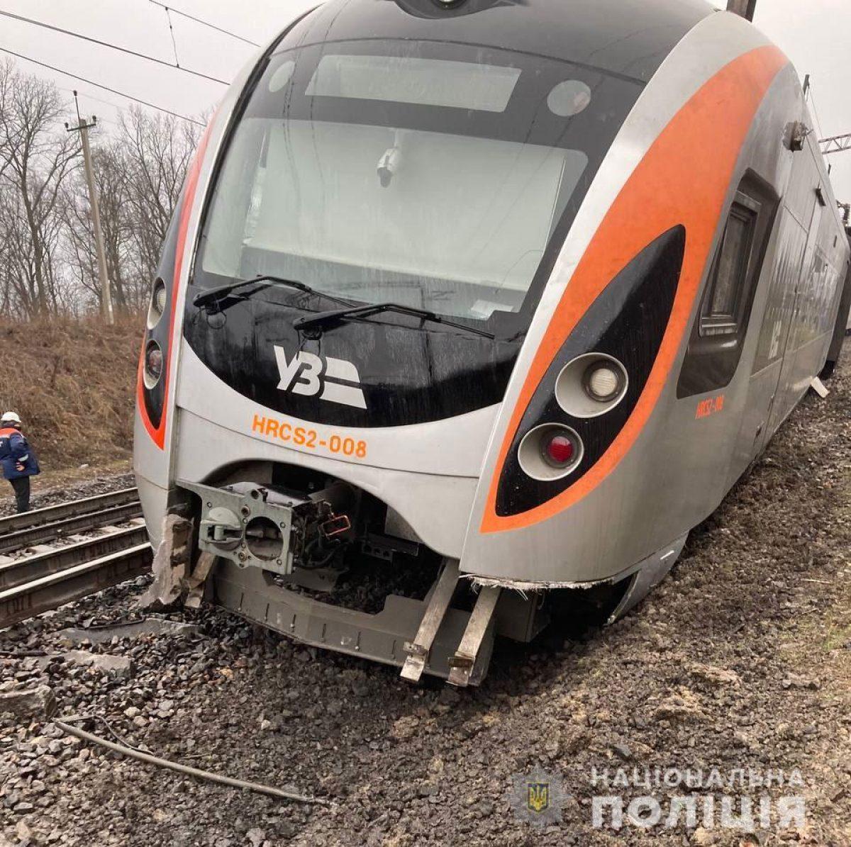Появилось видео момента аварии Интерсити под Запорожьем