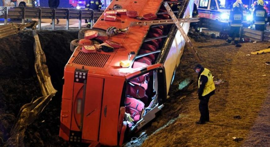 Five people killed in Ukrainian bus crash in Poland – media