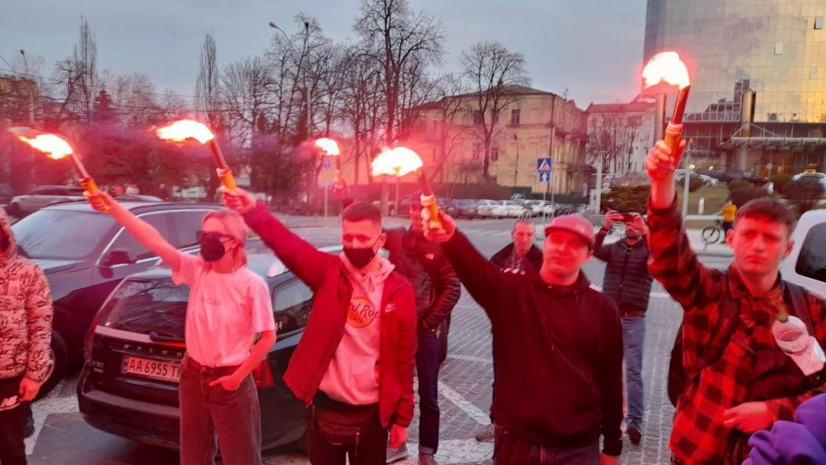 Под судом протестуют против меры пресечения Филимонову / фото УНИАН
