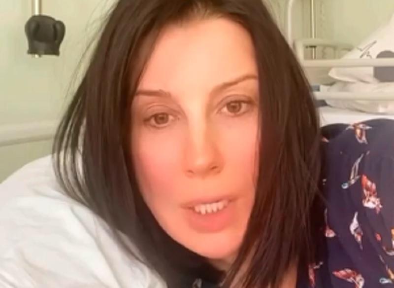 Екатерина Стриженова - пропагандистка о падении после фейков об Украине: лежу и думаю / скриншот